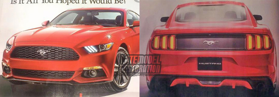 2015 Mustang News, Rumor & Spy Photos - 2015 mustang reveal leaked image