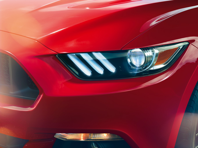 2015 Mustang Specs & Information: S550 Models, Engines, Colors & More - 2015 mustang headlights