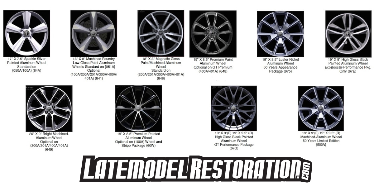 2015 Mustang Wheel & Tire Guide - 2015 Mustang Factory Wheels
