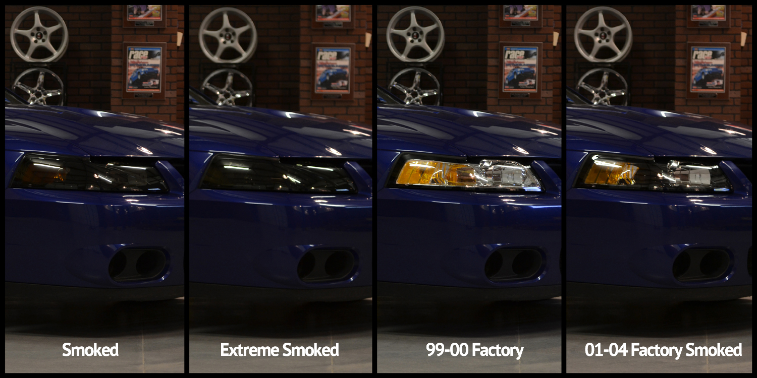 Mustang Headlight Installation & Comparison (99-04 New Edge) - mustang headlight comparison