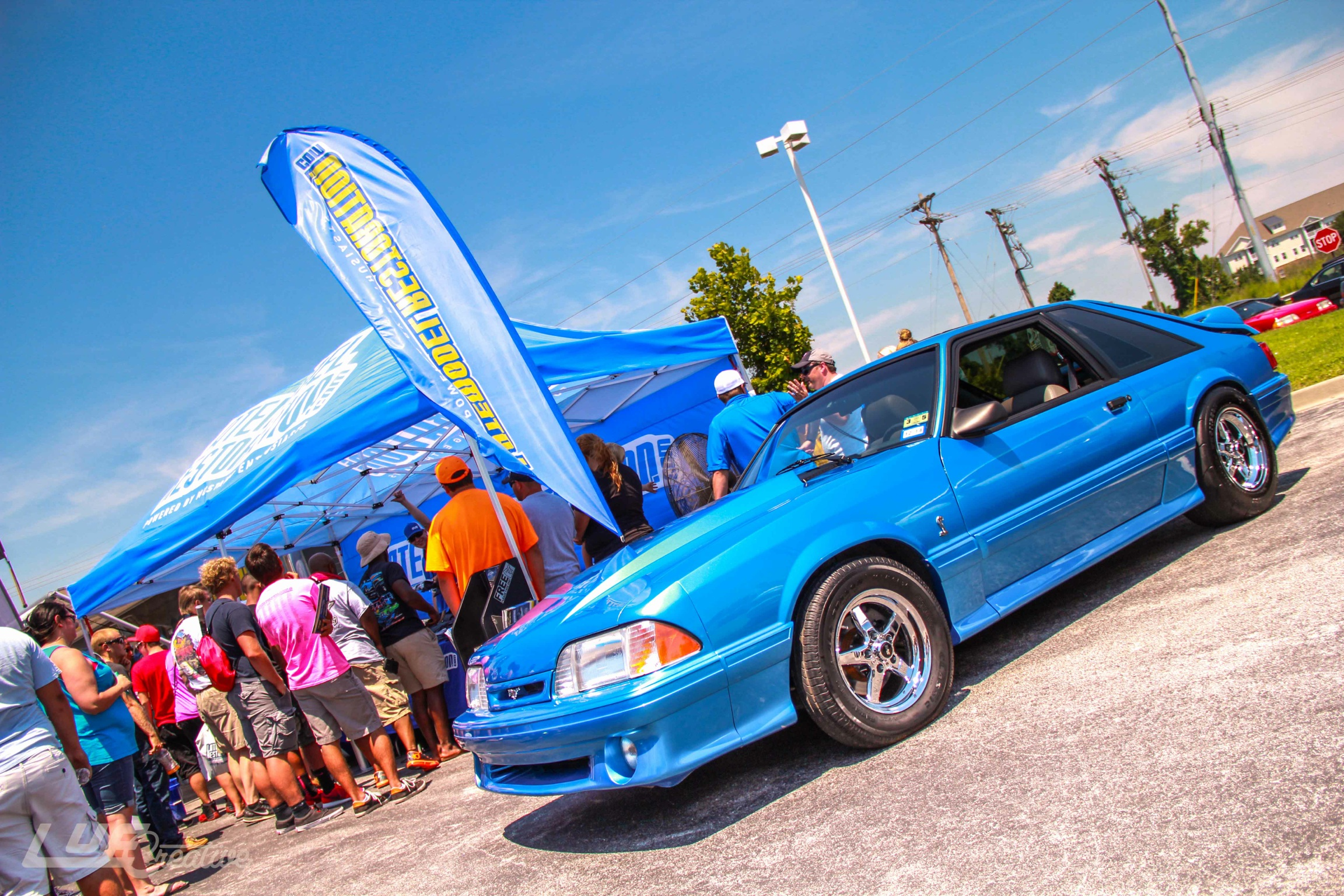 SVE Pace Car & Project Blue Collar Visit Mustang Week - Project Blue Collar - Mustang Week 2014