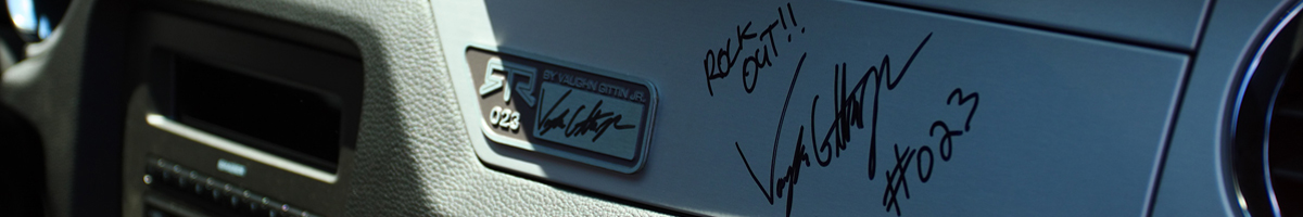 Vaughn Gittin Jr Signs Our 2011 RTR Mustang! - Vaughn Gittin Jr Signs Our 2011 RTR Mustang